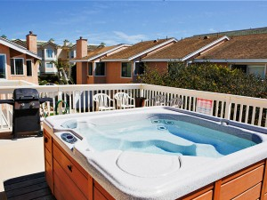 Jacuzzi and barbeque grill